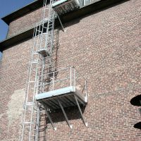 VERTIC's caged ladder and steps