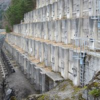 VERTIC's guardrails and cage ladders on dam