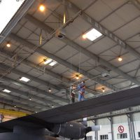 VERTIC's ALTIRAIL horizontal fall protection rail system for work in suspension