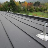 BATILIGNE horizontal lifeline system on zinc roofing