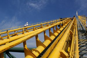 WALIBI Attraction - VERTIC's COMBIRAIL inclined fall protection rail system