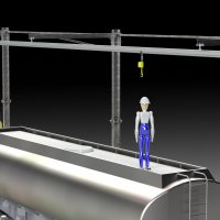 ALTIRAIL LR - long-span fall protection rigid system